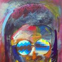Stevie Wonder by Arthur Secunda - search and link Fine Art with ARTdefs.com