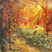 Autumn evening by Alexander Vlasyuk - search and link Fine Art with ARTdefs.com