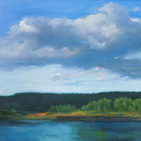 Big Cloud Water and Lake by Mara Sfara - search and link Fine Art with ARTdefs.com