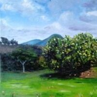 View of the Caramonas Mountains by Vincent Mengeot - search and link Fine Art with ARTdefs.com