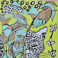 Leopardo-wildlife by Virginia Ersego - search and link Fine Art with ARTdefs.com