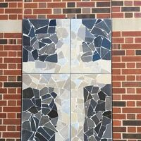 Broken Tiles Cross by Carol Fleming - search and link Fine Art with ARTdefs.com