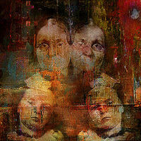 Twins intergenerational by Joe Ganech - search and link Fine Art with ARTdefs.com