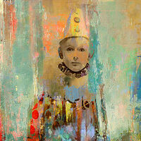 Le petit clown by Joe Ganech - search and link Fine Art with ARTdefs.com