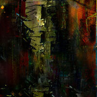 A street too quiet by Joe Ganech - search and link Fine Art with ARTdefs.com