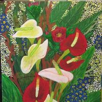 Calla Lillies by Teresa R Laurente - search and link Fine Art with ARTdefs.com