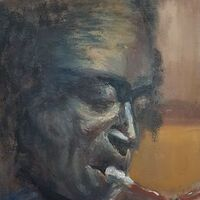 Miles plays Red Horn by Patrick Turner-Lee - search and link Fine Art with ARTdefs.com
