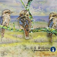 Kookaburras by Susan Willemse - search and link Fine Art with ARTdefs.com