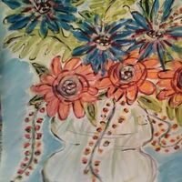 Florapop Vase by Susan Royer - search and link Fine Art with ARTdefs.com