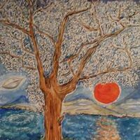 Blood Moon Rising View by Susan Royer - search and link Fine Art with ARTdefs.com