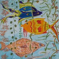 Fab Four Fish by Susan Royer - search and link Fine Art with ARTdefs.com