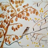 Bramble Bird by Susan Royer - search and link Fine Art with ARTdefs.com