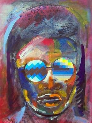 Stevie Wonder by Arthur Secunda - search and link Fine Art with ARTdefs.com