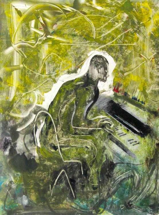 Herby Hancock by Arthur Secunda - search and link Fine Art with ARTdefs.com