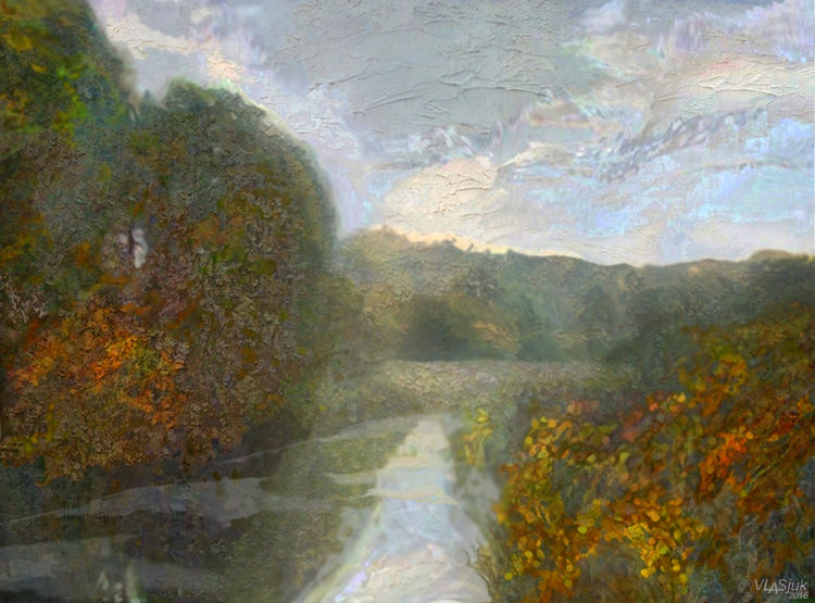 Autumn sketch by Alexander Vlasyuk - search and link Fine Art with ARTdefs.com
