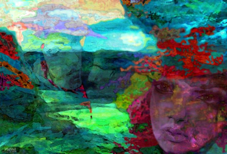 Red summer by Alexander Vlasyuk - search and link Fine Art with ARTdefs.com