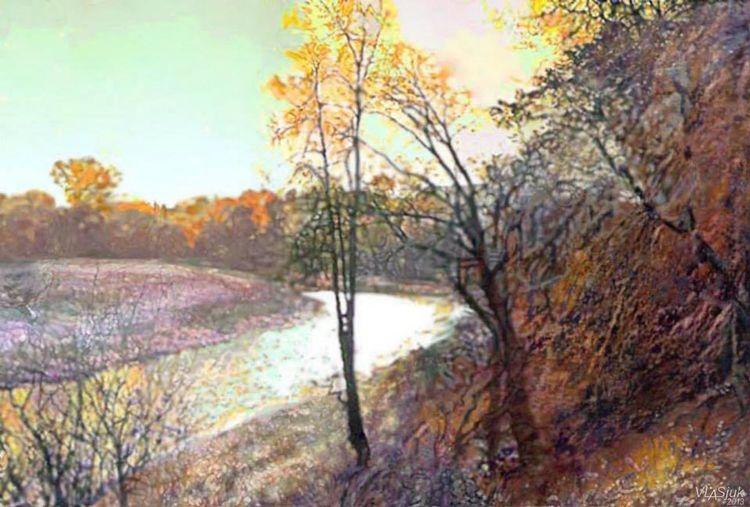 Autumn in Lošice by Alexander Vlasyuk - search and link Fine Art with ARTdefs.com