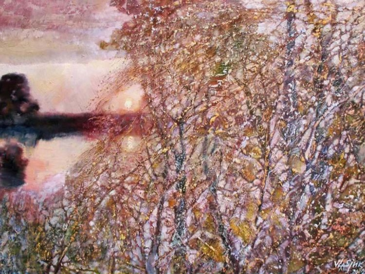 It shines with golden crushing by Alexander Vlasyuk - search and link Fine Art with ARTdefs.com