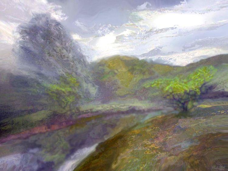 Above a river. by Alexander Vlasyuk - search and link Fine Art with ARTdefs.com