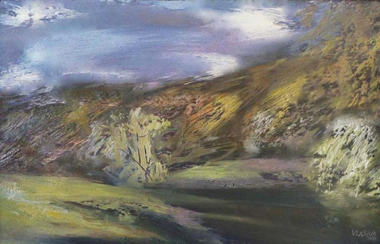 Clouds over Svisloch by Alexander Vlasyuk - search and link Fine Art with ARTdefs.com