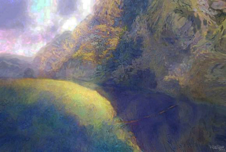 The first autumn ray by Alexander Vlasyuk - search and link Fine Art with ARTdefs.com