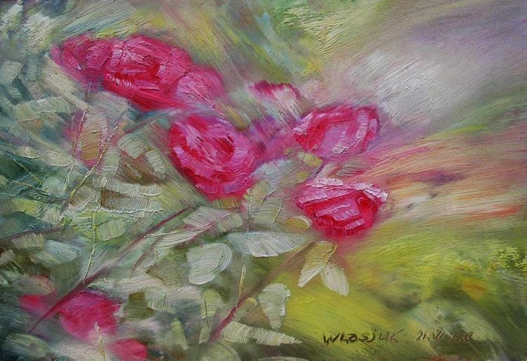 Crimean roses by Alexander Vlasyuk - search and link Fine Art with ARTdefs.com