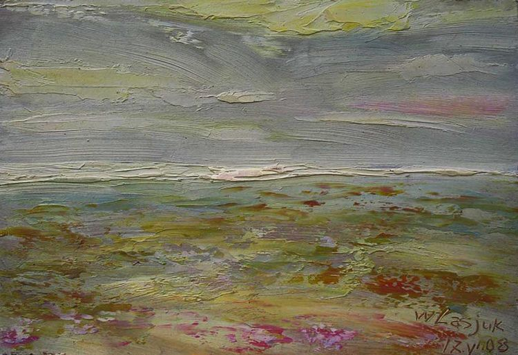 The sky ... The sea ... The blooming steppe ... by Alexander Vlasyuk - search and link Fine Art with ARTdefs.com