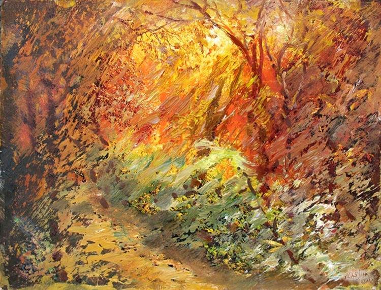 Autumn evening by Alexander Vlasyuk - search and link Fine Art with ARTdefs.com