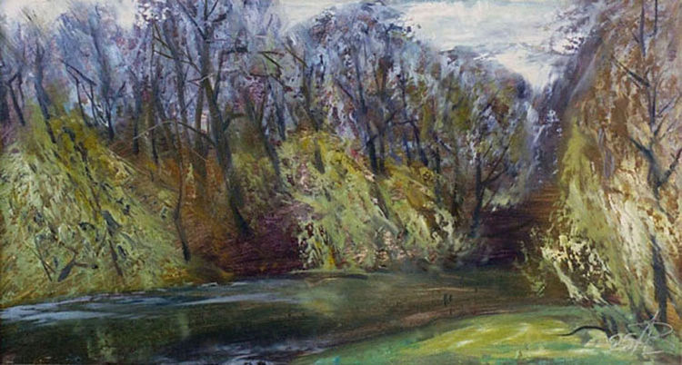 Spring on the Svisloch River by Alexander Vlasyuk - search and link Fine Art with ARTdefs.com