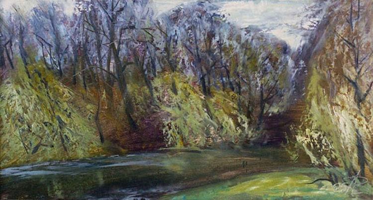 Spring on the Svisloch River by Alexander Vlasyuk - search and link Fine Art with ARTdefs.com