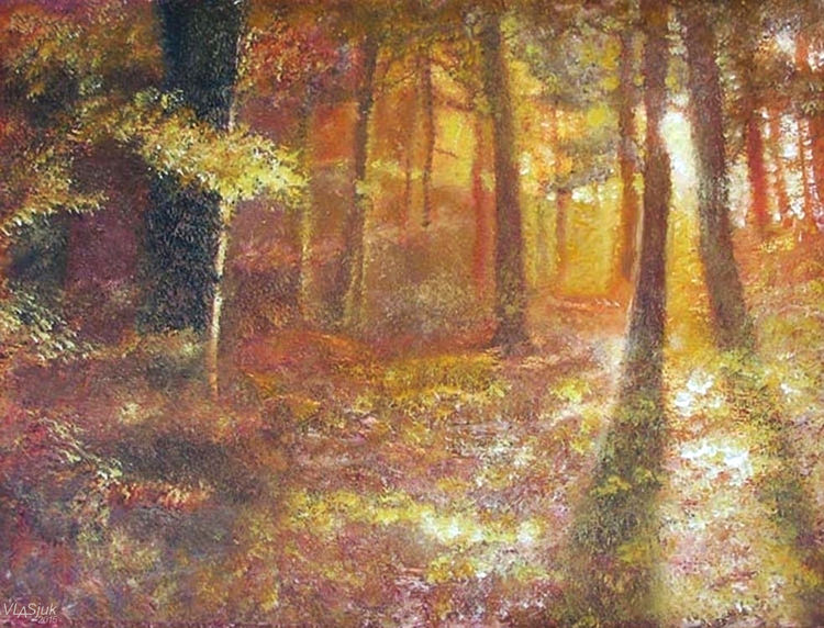 Autumn in the forest by Alexander Vlasyuk - search and link Fine Art with ARTdefs.com
