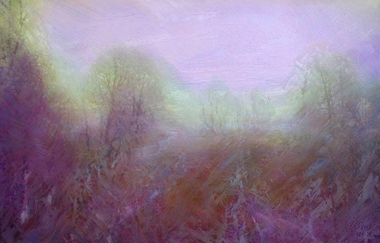 Morning. Old garden by Alexander Vlasyuk - search and link Fine Art with ARTdefs.com