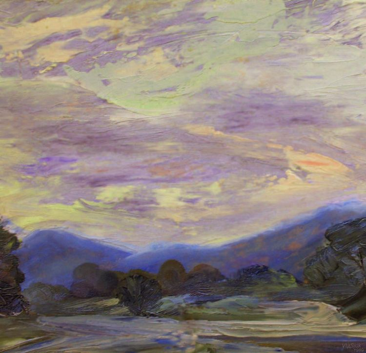 Morning in the Caucasus by Alexander Vlasyuk - search and link Fine Art with ARTdefs.com