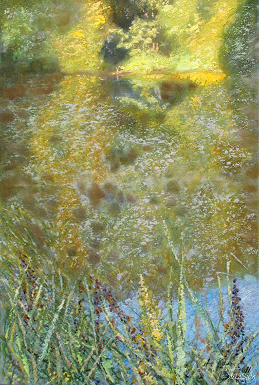 Pond by Alexander Vlasyuk - search and link Fine Art with ARTdefs.com