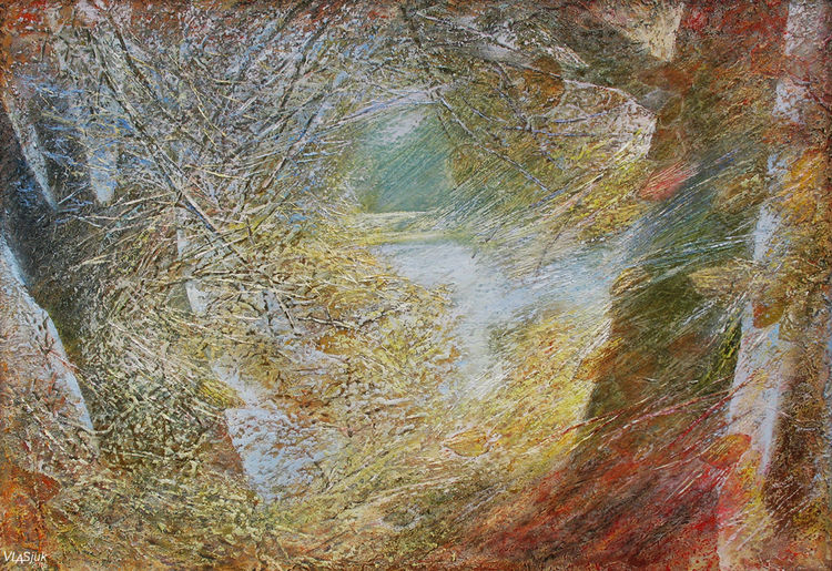 Autumn in the park by Alexander Vlasyuk - search and link Fine Art with ARTdefs.com