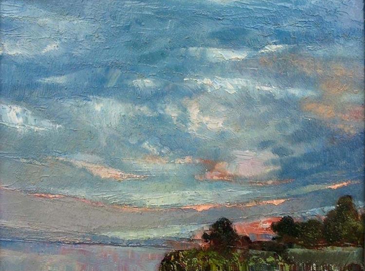 Evening clouds by Alexander Vlasyuk - search and link Fine Art with ARTdefs.com