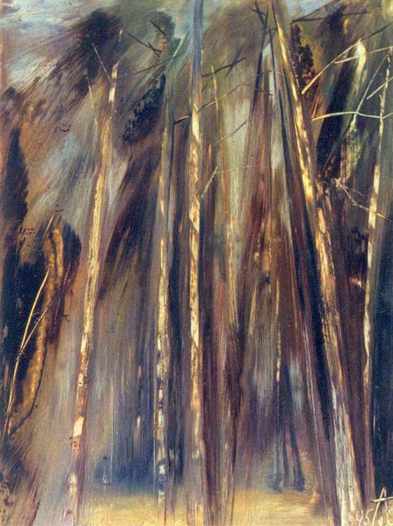Noise of pines by Alexander Vlasyuk - search and link Fine Art with ARTdefs.com