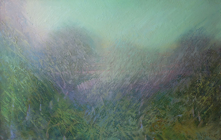 The spring garden by Alexander Vlasyuk - search and link Fine Art with ARTdefs.com