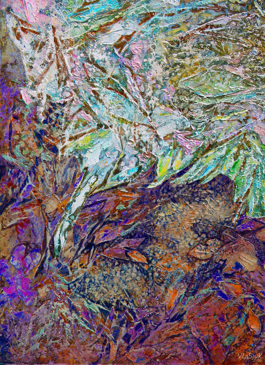 Textures of herbs by Alexander Vlasyuk - search and link Fine Art with ARTdefs.com