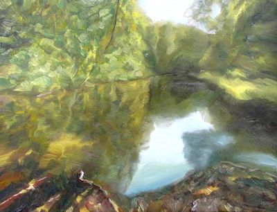 Summer. The old channel by Alexander Vlasyuk - search and link Fine Art with ARTdefs.com