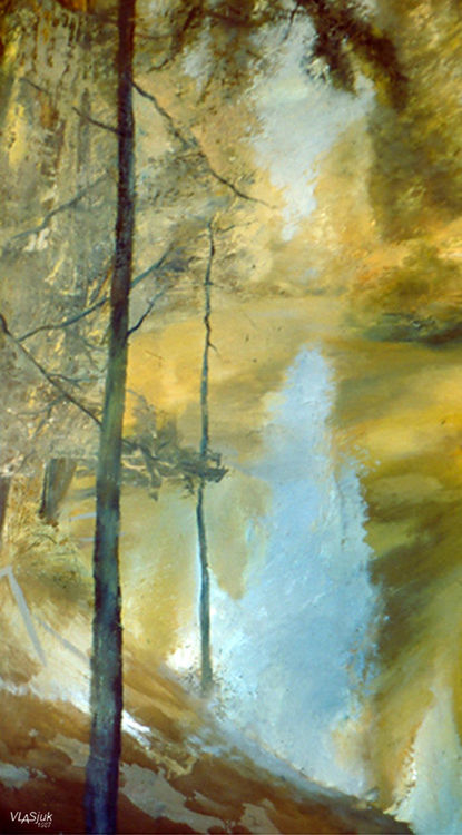 On the river Nyah by Alexander Vlasyuk - search and link Fine Art with ARTdefs.com