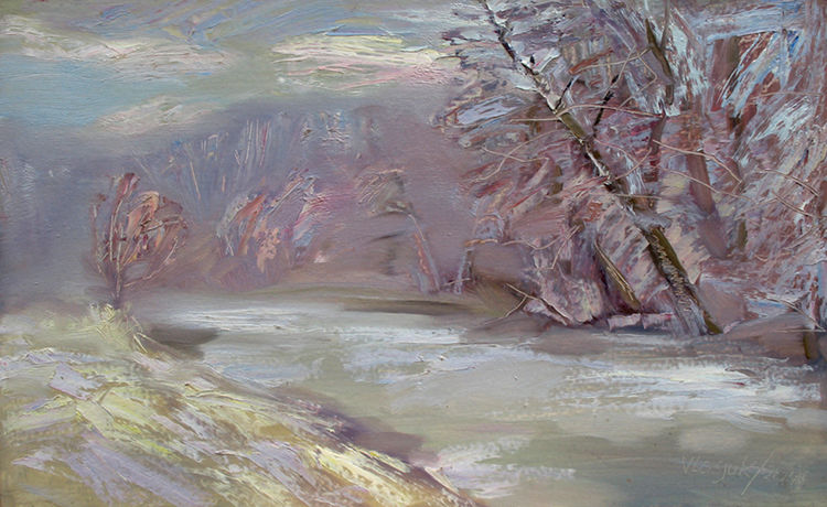 Winter thaw by Alexander Vlasyuk - search and link Fine Art with ARTdefs.com