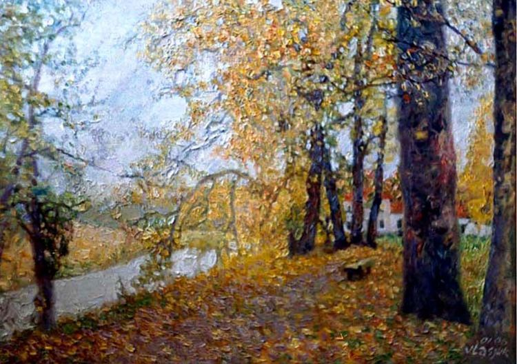 Autumn in the manor Loshitsa by Alexander Vlasyuk - search and link Fine Art with ARTdefs.com