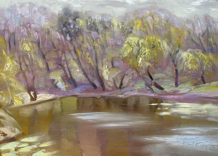 On the pond by Alexander Vlasyuk - search and link Fine Art with ARTdefs.com