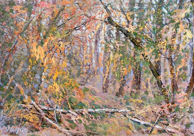 Autumn forest by Alexander Vlasyuk - search and link Fine Art with ARTdefs.com