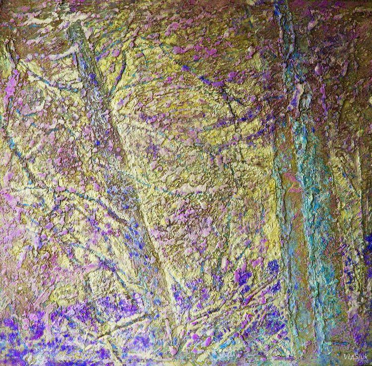 Morning light. Pine trees ... by Alexander Vlasyuk - search and link Fine Art with ARTdefs.com