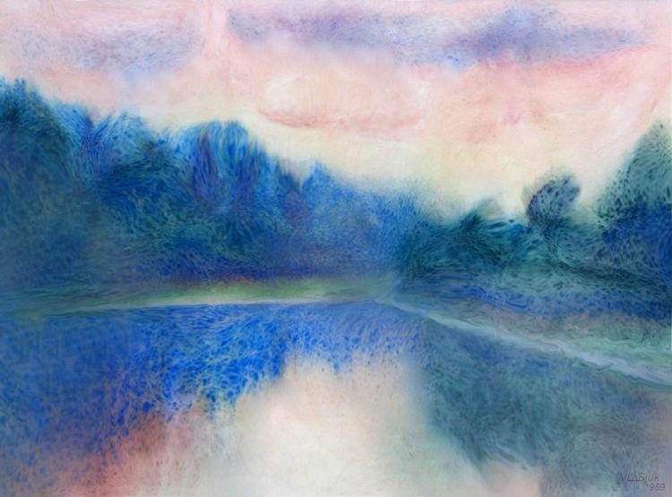 Evening in Berezina by Alexander Vlasyuk - search and link Fine Art with ARTdefs.com