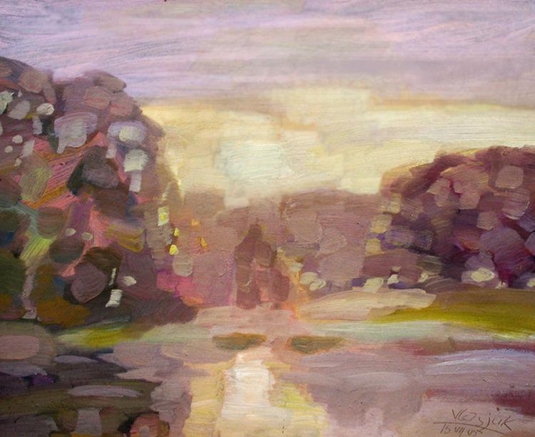 Morning sunrise by Alexander Vlasyuk - search and link Fine Art with ARTdefs.com