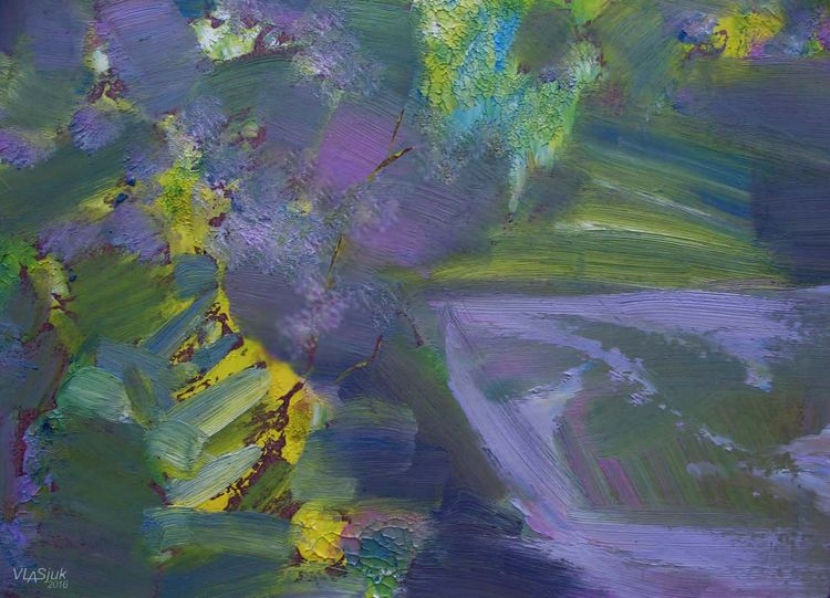 Spilling quietly by Alexander Vlasyuk - search and link Fine Art with ARTdefs.com