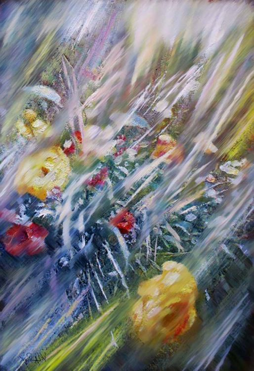 Impression of roses by Alexander Vlasyuk - search and link Fine Art with ARTdefs.com